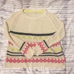 Gianni Bini Pink Purple Sweater Medium